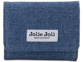 Jolie Joli ジョリージョリ コンパクト三つ折り財布 2017903-011 デニム レディース 財布 ブルー×レッド 新品