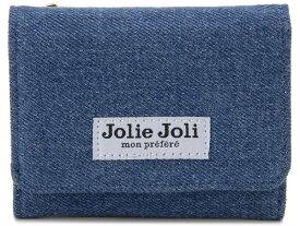 Jolie Joli ジョリージョリ コンパクト三つ折り財布 2017903-013 デニム レディース 財布 ブルー×ブルー 新品