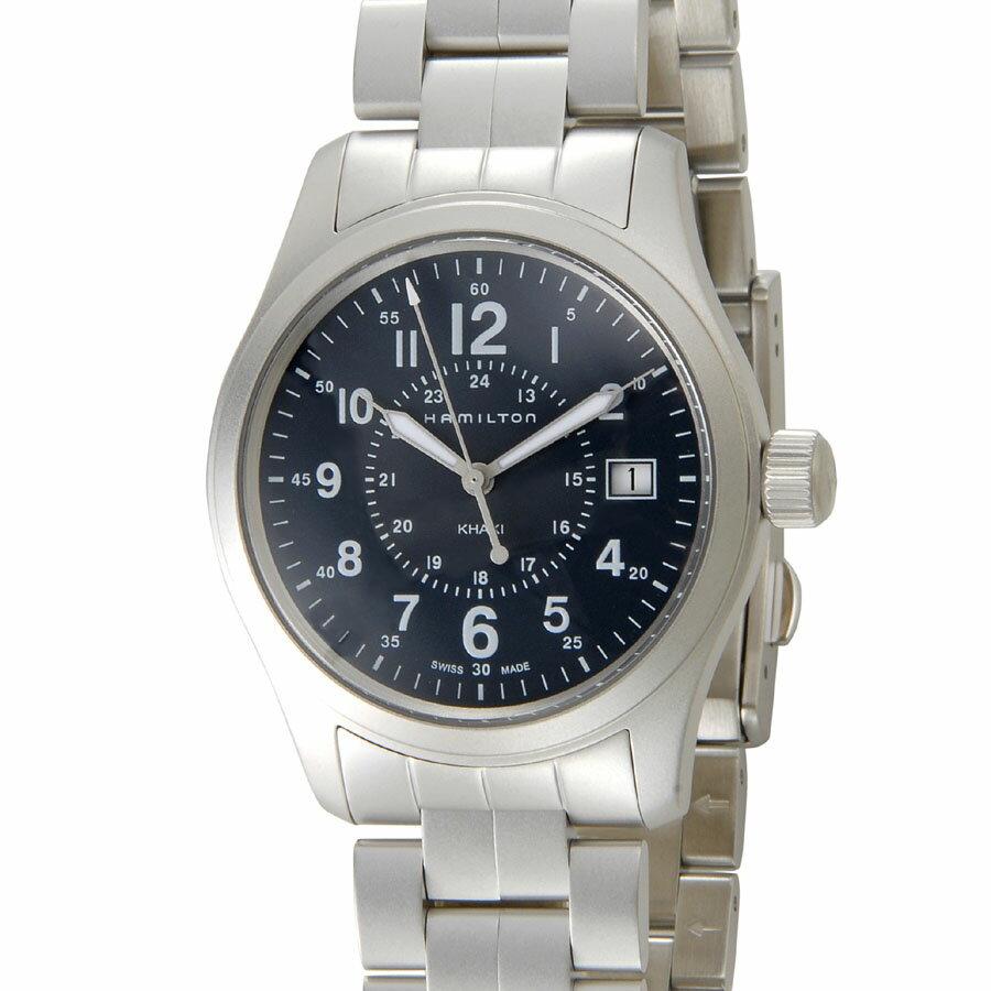 ハミルトン カーキ フィールド HAMILTON H68201143 ブルー メンズ 腕時計 P5SP