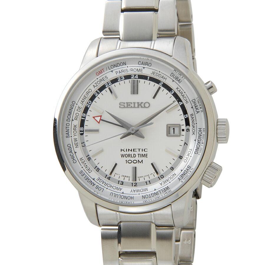 セイコー キネティック SEIKO SUN067P1 キネティック ワールドタイム GMT メンズ 腕時計