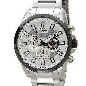 テクノス メンズ 腕時計 TECHNOS TSM616TS クロノグラフ 日本製ムーブメント ホワイト 新品
