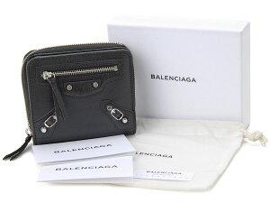 バレンシアガ二つ折り財布BALENCIAGA310699D940N1000CLAS.BI.Z.ARクラシックレディースNOIRブラック