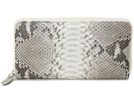 [Rakuten Fashion THE SALE] ヘビ革 ラウンドファスナー長財布 ダイヤモンドパイソン 蛇革 ナチュラル 財布