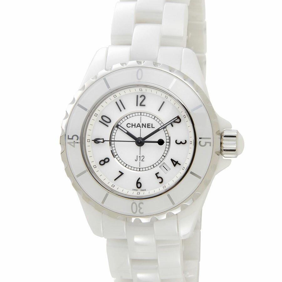 シャネル CHANEL 時計 J12 H0968 ホワイト セラミック レディース 腕時計