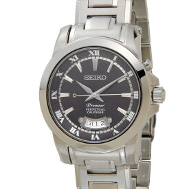 セイコー SEIKO プルミエ SNQ147P1 Premier パーペチュアル クオーツ ダークグレー×シルバー メンズ 腕時計 (プレミア) 新品 【送料無料】