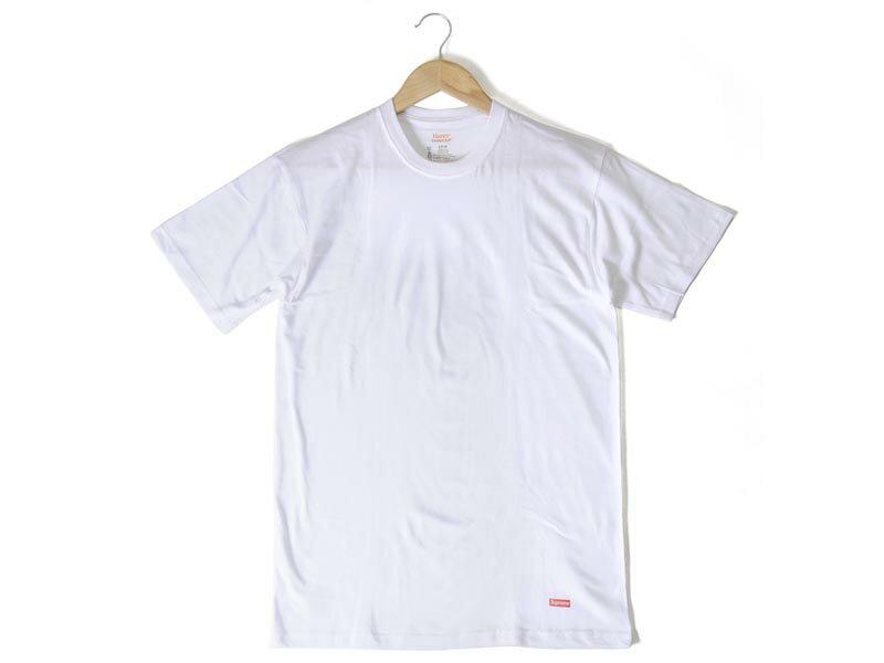 シュプリーム × ヘインズ コラボ Tシャツ ホワイト 3枚セット Supreme × Hanes 3 PACK メンズ 半袖 P10SP