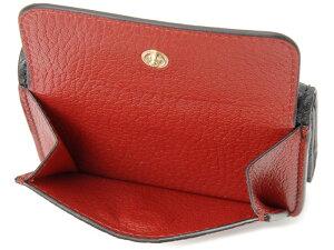 ミュウミュウMiuMiu三つ折り財布5MH0202BJIF0LJ4MADRASマドラスブラック×レッドレディース財布