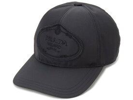訳あり ロゴが歪んで付いている プラダ PRADA 帽子 ベースボールキャップ Sサイズ 1HC274 820 F0002 ナイロン キャップ 新品 【送料無料】