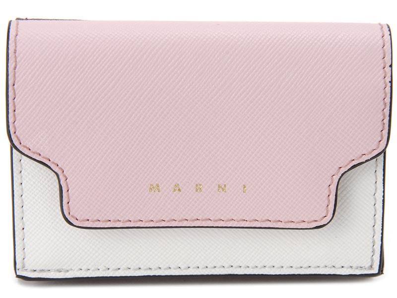 マルニ MARNI 三つ折り財布 PFMOW02U09 Z172N レザー 財布 シンダーローズ レディース イタリアブランド 新品