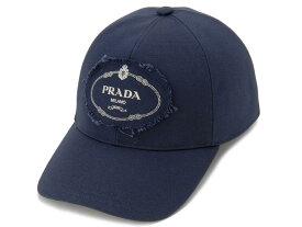プラダ PRADA キャップ 2HC274 010 F0216 ベースボールキャップ 帽子 ネイビー メンズ レディース 新品 【送料無料】