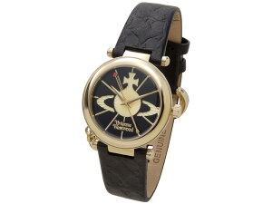 ヴィヴィアンウエストウッドVIVIENNEWESTWOOD時計006BKGDオーブゴールド×ブラックレディース腕時計新品
