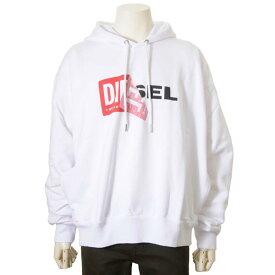 楽天スーパーSALE セール対象商品 ディーゼル DIESEL パーカー メンズ スウェット ロゴ 裏起毛 プルオーバー ホワイト 白