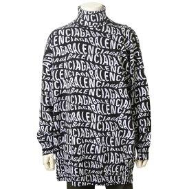 バレンシアガ BALENCIAGA ウール ニット セーター ブラック 黒 メンズ 583151T15351070 ビッグシルエット