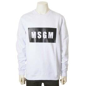 MSGM エムエスジーエム トレーナー ホワイト 白 メンズ 2740 MM68 クルーネック スウェット 裏起毛