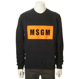 MSGM エムエスジーエム トレーナー ブラック 黒 メンズ 2740 MM68 クルーネック スウェット 裏起毛