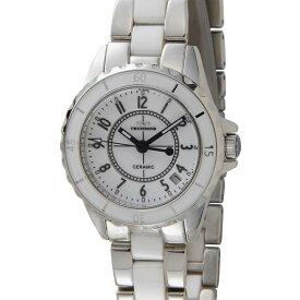 テクノス TECHNOS レディース 腕時計 TSL918TW セラミック クォーツ ホワイト 時計