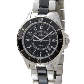 テクノス TECHNOS メンズ レディース 腕時計 TSM917TB 39mm セラミック クォーツ ブラック 時計