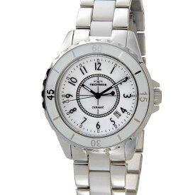テクノス TECHNOS メンズ レディース 腕時計 TSM917TW 39mm セラミック クォーツ ブラック 時計