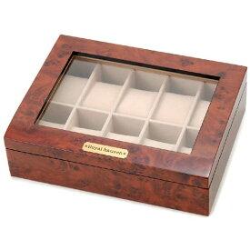 訳あり 時計収納ケース 時計コレクションケース 木製 ブラウン 10本用 BOX 一部塗装のメッキ剥がれ/ガラス部分に小キズ 時計雑貨 新品