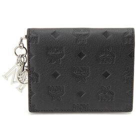 エムシーエム MCM 二つ折り財布 ブラック MYS 9SKM40 BK001 コンパクト財布 [ポイント5倍キャンペーン][8/3〜8/17]