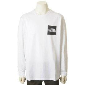 ノースフェイス THE NORTH FACE ロンT メンズ ホワイト 長袖 Tシャツ LS FINE TEE カットソー