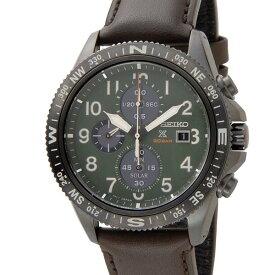 セイコー SEIKO プロスペックス メンズ 腕時計 SSC739P1 PROSPEX ソーラー クロノグラフ グリーン×ブラウン レザー ウォッチ
