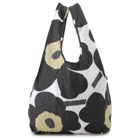 マリメッコ marimekko トートバッグ ユニセックス ホワイト×ブラック 48853 030 ウニッコ エコバッグ ショッピングバッグ