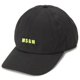 クリアランスセール MSGM エムエスジーエム キャップ メンズ レディース ブラック ML06 271 99 CAP BLACK 帽子