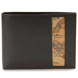 プリマクラッセ PRIMA CLASSE 二つ折り財布 メンズ ブラック 黒色 W133 5300 0500 世界地図 地図柄