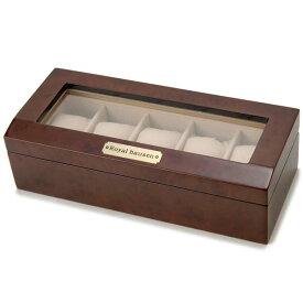 [公式] 訳あり ボンド汚れ、外箱の傷み、小キズ等 ロイヤルハウゼン Royal hausen 時計収納ケース 腕時計時計コレクションケース 木製 ブラウン 5本用 新品