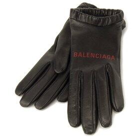 バレンシアガ BALENCIAGA 手袋 レザー ブローブ 584388353B71074 ロゴ ブラック
