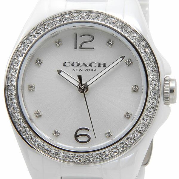コーチ COACH 腕時計 レディース 14502106 トリステン ミニ セラミック ホワイトシルバー クリスタルストーン10P DEAL