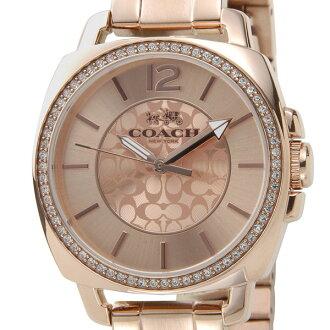 教練COACH手錶14502149 BOYFRIEND男朋友男朋友石英玫瑰黄金女士鐘表