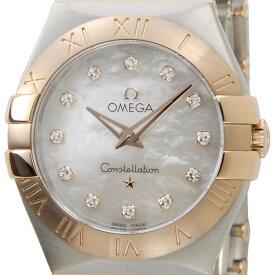 ポイント5倍(3/4-3/11) オメガ OMEGA 123.20.27.60.55.001 コンステレーション ホワイトシェル12Pダイヤモンド レディース腕時計 新品 当店5年保証