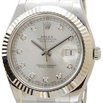 劳力士劳力士 116334 G 日志型 2 日志型 II 钻石 10 p 银男式手表