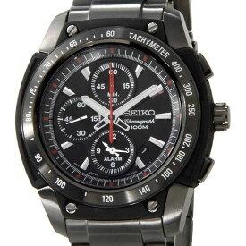 セイコー SEIKO メンズ 腕時計 SNAD49P1 クロノグラフ アラーム ブラック×ブラック セイコーウオッチ 新品 送料無料