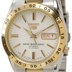 セイコー SEIKO SEIKOセイコー SEIKO セイコーファイブ SNKE04J1 ホワイト×ゴールド メンズ腕時計 セイコーウオッチ 新品