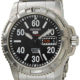 セイコー SEIKO SEIKO5 スポーツ 腕時計 SRP213K1 自動巻き メンズ ブラック/シルバー セイコーウオッチ 新品