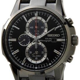 セイコー SEIKO 時計 ソーラー アラーム クロノグラフ SSC095P1 ブラック ウォッチ メンズ セイコー SEIKO SEIKO ウオッチ 新品