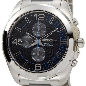 精工SEIKO人手錶SSC213P1計時儀太陽能石英精工表