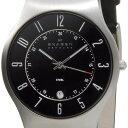 スカーゲン SKAGEN メンズ 腕時計 233 XXLSLB 233シリーズ Denmark Classic ブラック×シルバー ブラックレザー 革ベ…