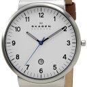 スカーゲン SKAGEN メンズ 腕時計 SKW6082 KLASSIK Leather クラッシック レザー ホワイト ブラウン レザーベルト 革…