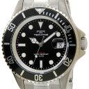 テクノス TECHNOS 腕時計 T4323IB オリジナルモデル フルチタン製 ダイバーモデル 軽量95g ブラック×シルバー メンズ…