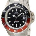テクノス TECHNOS 腕時計 T4323IR オリジナルモデル フルチタン製 ダイバーモデル 軽量95g ブラック×レッド メンズ