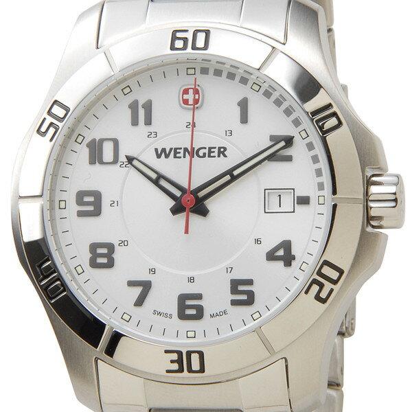 ウェンガー WENGER 70489 メンズ腕時計 ALPINE アルバイン ホワイト/シルバー ミリタリー アウトドア P10SP