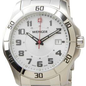 訳あり 化粧箱に軽微なダメージあり ウェンガー WENGER 70489 メンズ腕時計 ALPINE アルバイン ホワイト/シルバー 新品