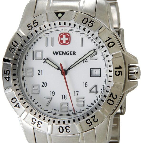 ウェンガー WENGER 72617 メンズ腕時計 マウンテイナー ホワイト/シルバー ミリタリー アウトドア 時計 P10SP