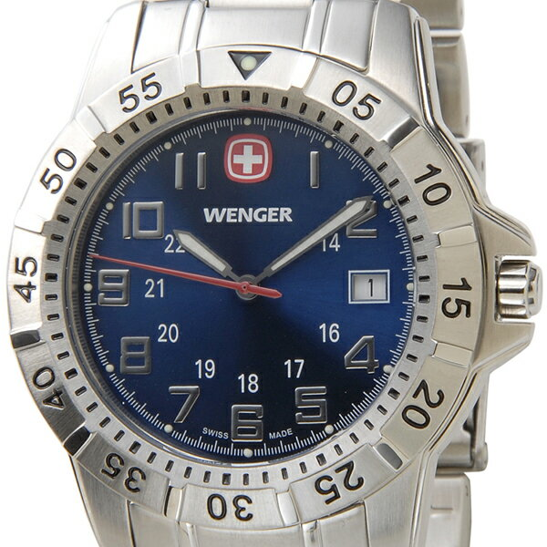 ウェンガー WENGER 72618 メンズ腕時計 マウンテイナー ブルー/シルバー ミリタリー アウトドア 時計 新品