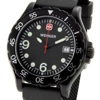 溫格溫格護林員 70902 黑色橡膠皮帶男裝軍事戶外品牌手錶