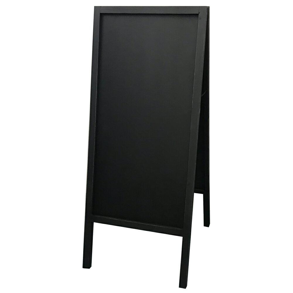 【A型サインボード ブラック】インテリア メニュボード ブラック 黒色 黒板 看板 両面仕様 チョーク 店舗 飲食店 カフェ 送料無料